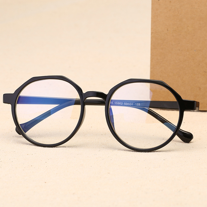 Oulylan Men Women Glasses Frame Retro Round Spectacle Transparent Eyeglasses Frames Luxury Female Male Blue Film Eyewear