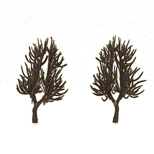 20-100pcs 6cm height model tree arms toys scale miniature architectural plants basic material for diorama tiny trees making