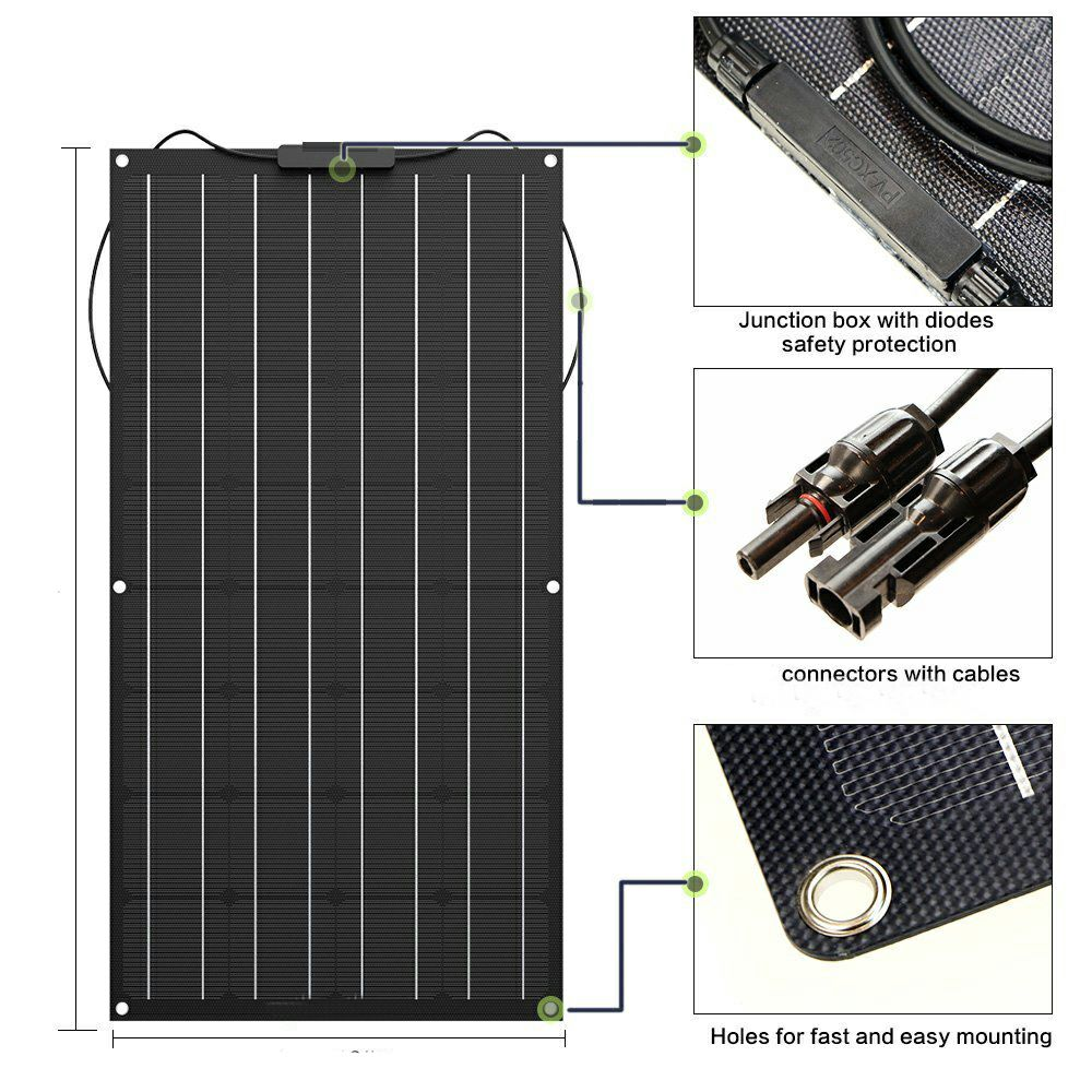 Image 5 - ETFE film Monocrystalline Lightweight 80Watt Flexible Solar Panel for Marine & RV/Boat/Other Off Grid ApplicationsSolar Cells   -