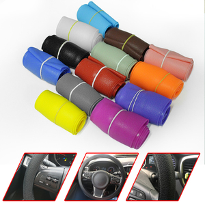 Car Styling Car Silicone Steering Wheel Glove Cover Multi Color Skin Soft For Volkswage Polo CC T-ROC Tiguan Interior Accessory