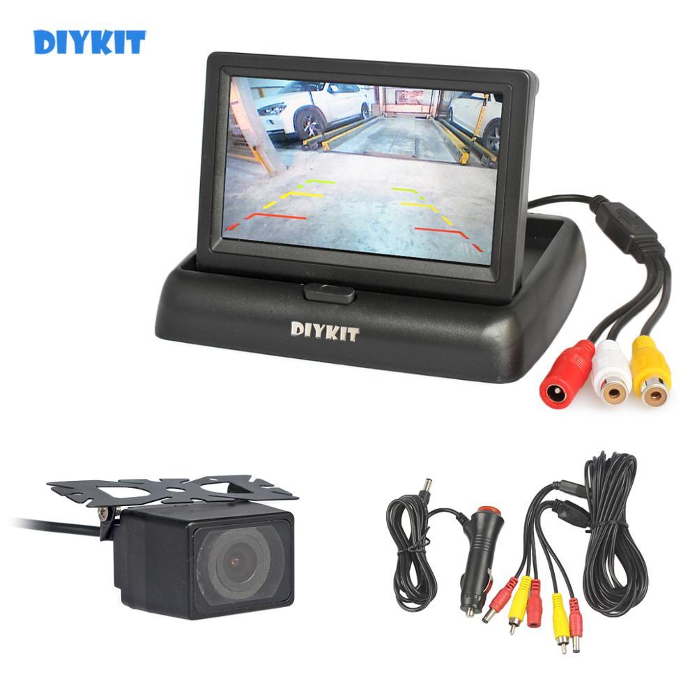 DIYKIT 4,3 дюймовый автомобильный Реверсивный комплект для камеры заднего вида автомобильный монитор ЖК дисплей HD Автомобильная камера заднег