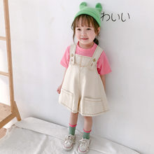 2020 Summer Baby Girls Boys Denim Overalls Korean Style Kids Clothes Jeans Jumpsuits For Girls Kids Children Skirt Trousers(China)