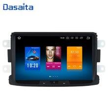 "Dasaita 8 ""Android 10 1 Din Auto Radio GPS für Renault Duster Dacia Sandero Captur Lada Xray 2 Logan 2 4*50w Lautsprecher MP3 TDA7850"