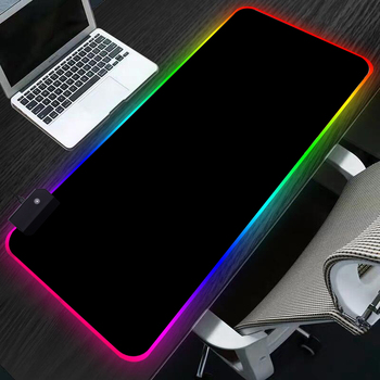 Sovawin RGB Gaming Mouse Pad 80x30cm All Black LED Light Computer Mousepad XL Gamer Desk Mat Pad Non-slip For PC Keyboard Laptop