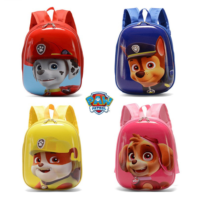 Paw Patrol Kindergarten Children Cute Cartoon Print Backpack Patrulha Canina Marshall Action Figure Eggshell Bag Children's Gift