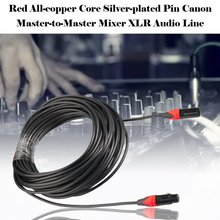 лучшая цена Male-To-Female Mixer Xlr Audio Cable Red Transmission Speed To Support Multi-Device Data Transmission 3m/5m/10m/15m/20m