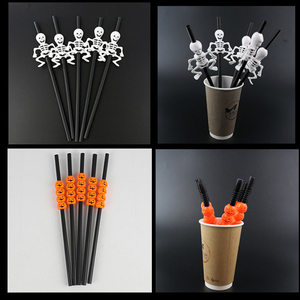 Image 2 - 5Pc Halloween Pumpkin Straw Ghost Straws Halloween Decoration Straws Halloween Party Supplies Halloween Decorations for Home