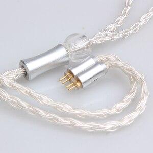 Image 4 - FDBRO 16 rdzeni posrebrzany kabel z wtyczką z włókna węglowego 2.5mm/3.5mm/4.4mm 2PIN A2DC IE80 IM kabel MMCX kabel do słuchawek