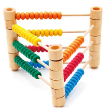 Chinese Abacus Soroban For Children Wooden Montessori Materials Learning Abaco Math Early Educational Toys Preschool Kids New(China)