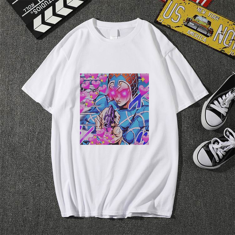 Showtly Cool  Men/Women T Shirt Jojo Bizarre Graphic Print Adventure Cool Japanese Anime Style Soft Plus-Size Cool  Tee Top