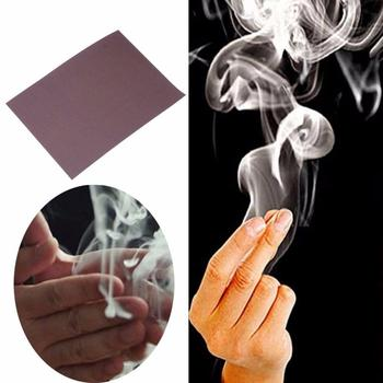 Cool CloseUp Magic Trick Finger Smoke Hell Smoke Stage Stuffs Fantasy Props Coil Paper image