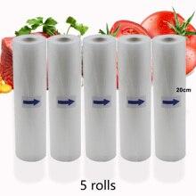 Не содержит Бисфенол А 5 рулонов/лот Кухня Еда Вакуумный пакет для хранения пакеты для вакуумного упаковщика, рулоны для вакуумной упаковки 12/15/20/25/28 см* 500 см