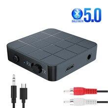 חם Bluetooth 5.0 4.2 מקלט משדר 2 ב 1 3.5mm AUX שקע RCA Hifi מוסיקה רכב טלוויזיה אוזניות רמקול אלחוטי אודיו מתאם