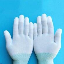 1 пара антистатические перчатки Антистатический ESD электронные рабочие перчатки pu покрытием пальмовое покрытие ПК противоскользящие для защиты пальцев