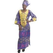 Африканские платья md с вышивкой женское хлопковое платье базином