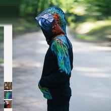 3D printed animal fashion sweatershirt Eagle print hooded sweatshirt street fashion casual hooded sweatershirt hoodie недорого
