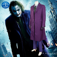 The Dark Knight The Joker Cosplay Costume Batman Suit Outfits Classic Halloween Cosplay Movie Hero Costume Full Set Custom Made