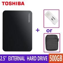 Disco rígido externo hdd 500gb, dispositivo portátil de armazenamento canvio basics hd usb 3.0 sata 2.5