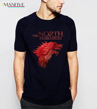 The North Remembers Game Of Thrones House Stark Men's T Shirts 2019 Summer Hot Sale 100% Cotton Tshirt Casual Brand Men T-Shirt hot sale brand 100