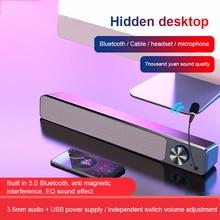 Altoparlanti per Computer Wireless cablati AUX Home Theater altoparlante Bluetooth colonna per bassi barra audio per PC TV microfono incorporato