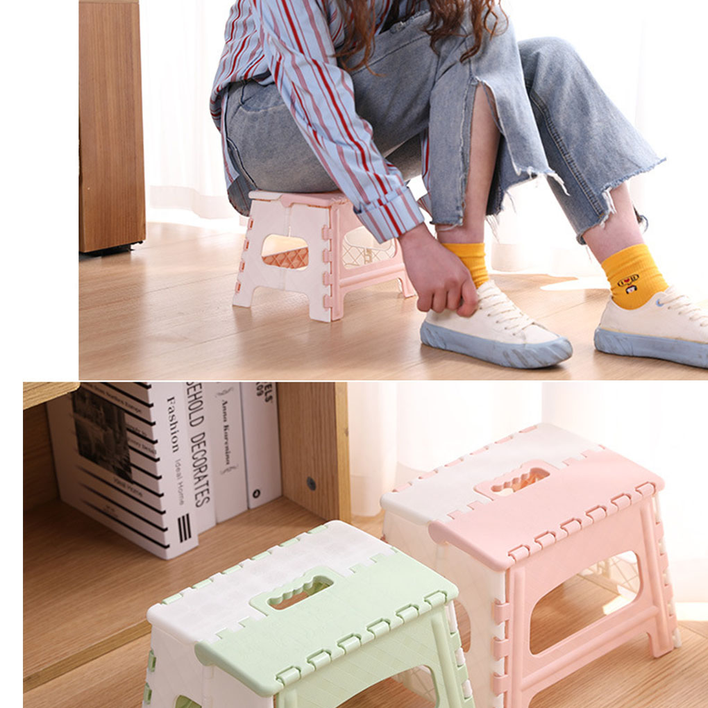 Portable Step Stool Plastic Collapsible Child Chair Non-sliping Shower Sitting Stool 3