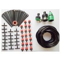 Planta de jardim micro gotejamento sistema rega automática conjunto de ferramentas kit irrigação água jardinagem ao ar livre acessórios água