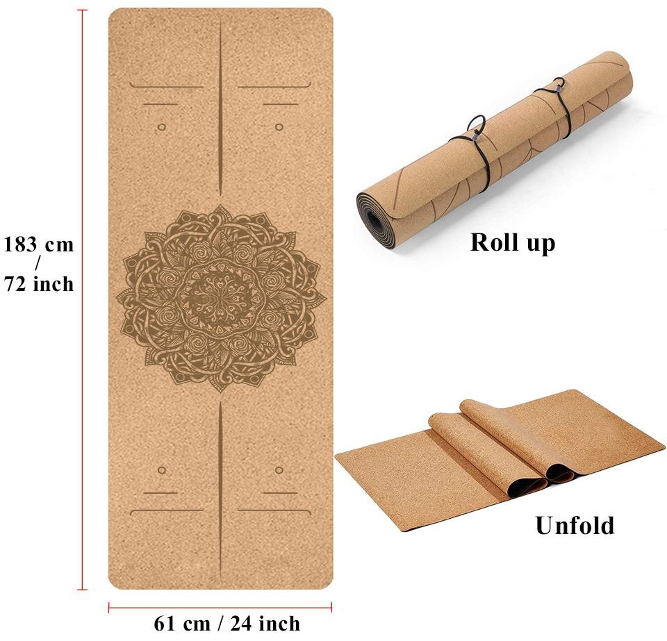 Natural Cork Yoga/Pilates Mat-Non Slip-Excellent Quality
