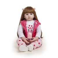 Toys Full Body Silicone Baby Toy Popular Hot Selling Reborn Toddler Baby Dolls Reborn Lifelike Soft Touch Baby Doll
