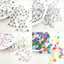 Hot Sale 200 Pcs/Lot Random Russian Letter Acrylic Beads for Jewelry Making Necklace Bracelet DIY Loose Wholesale