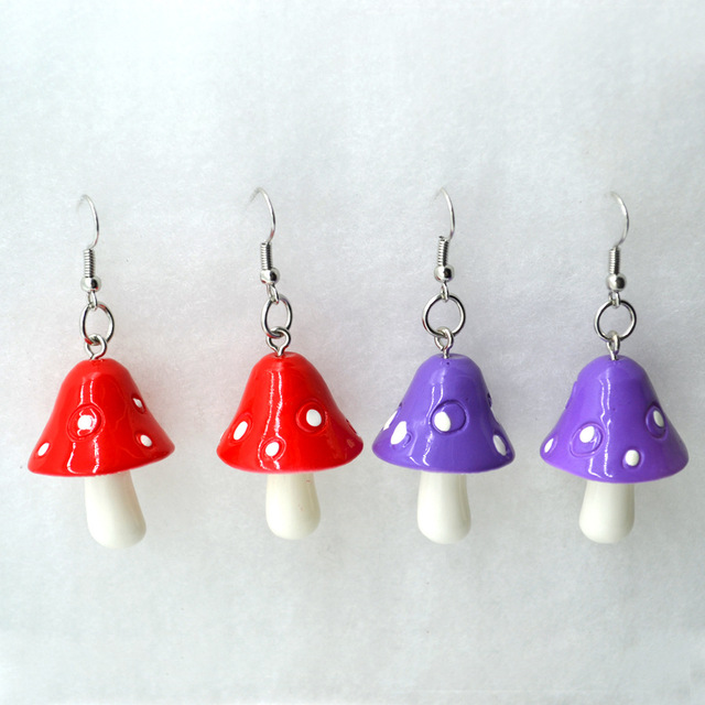 Mushroom Earrings 1