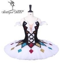 2014 New Arrival!white and black ballet tutu,professional tutu,pancake tutu,ballet rehearsal tutu,girls tutu