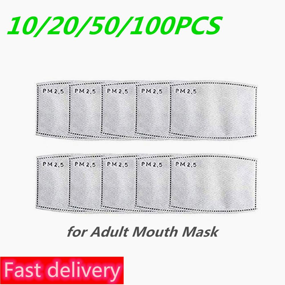 50/100pcs PM2.5 5 Layers Filter Paper Anti Dust Mask Anti Haze Mouth Mask Filter Paper Health Care For Kids Adults