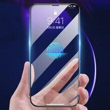 3Dフル接着剤iphone用強化ガラス11 11プロ11Pro最大9hフル画面プロテクターフィルムiphone 12ミニプロマックス