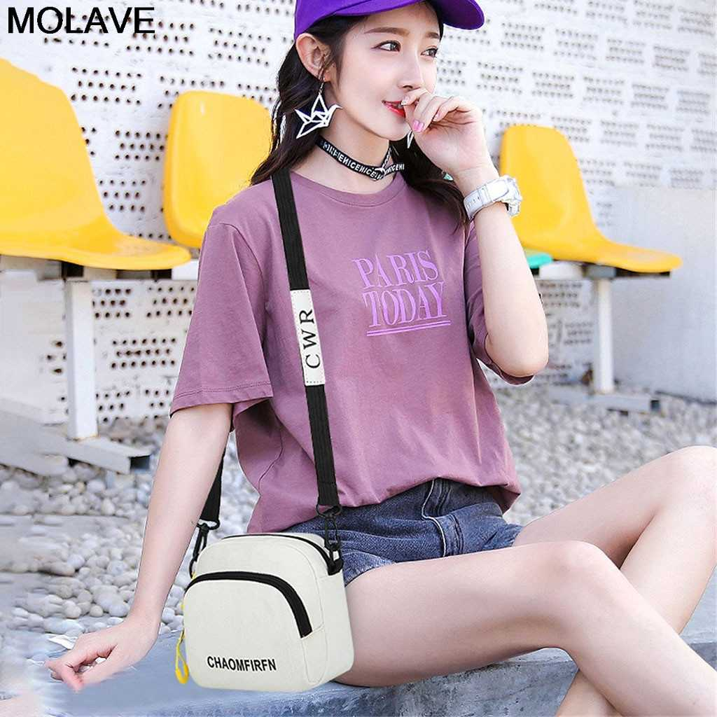 Molaveショルダーバッグファッション女性のカジュアルミニスクエアバッグ万能ソリッドカラーのハンドバッグキャンバスメッセンジャーバッグボルサfeminina