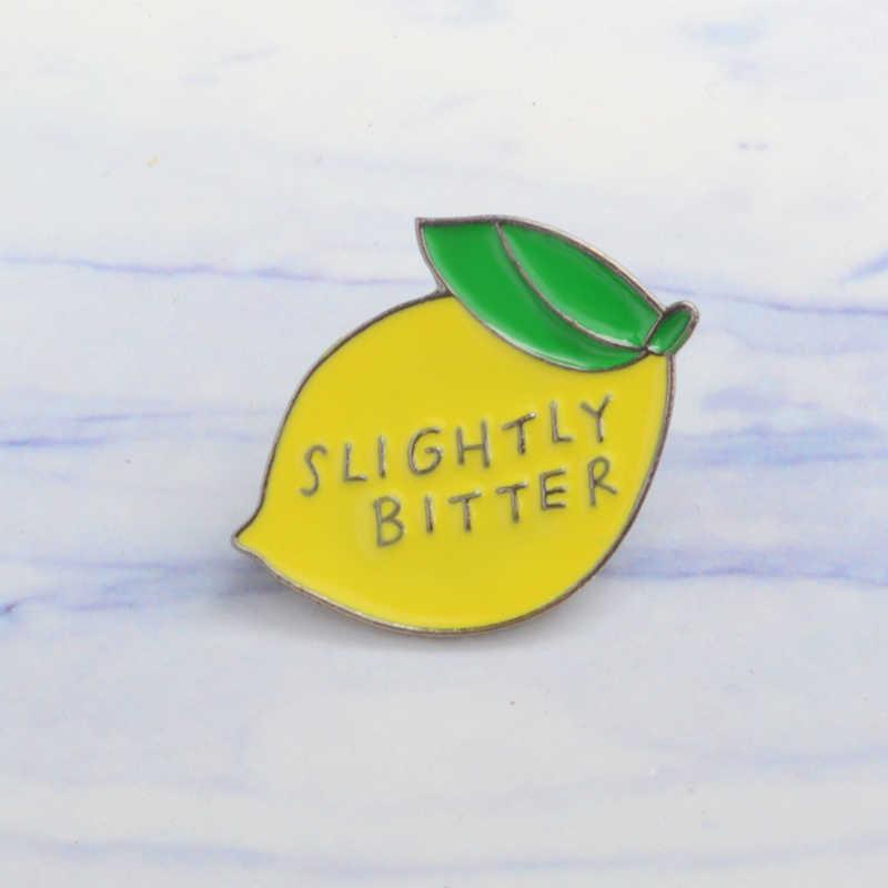 Fruit Lemon Peach-broche esmaltado de Metal para cámara, moderna insignia Retro con forma de bombilla para cámara, moderno broche para ropa exterior, mochila, regalo de joyería