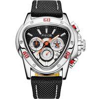 FEICE 2021 nuovi orologi da polso al quarzo da uomo personalità moda triangolo secchio sport da uomo orologio multifunzione impermeabile FK039