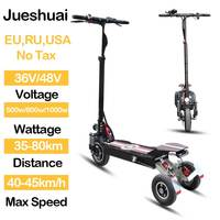 Three Wheel Electric Scooter 36V 48V 500W/800W/1000W Electric Skateboard 10 Front Motor Wheel Folding Patinete Electrico Adult