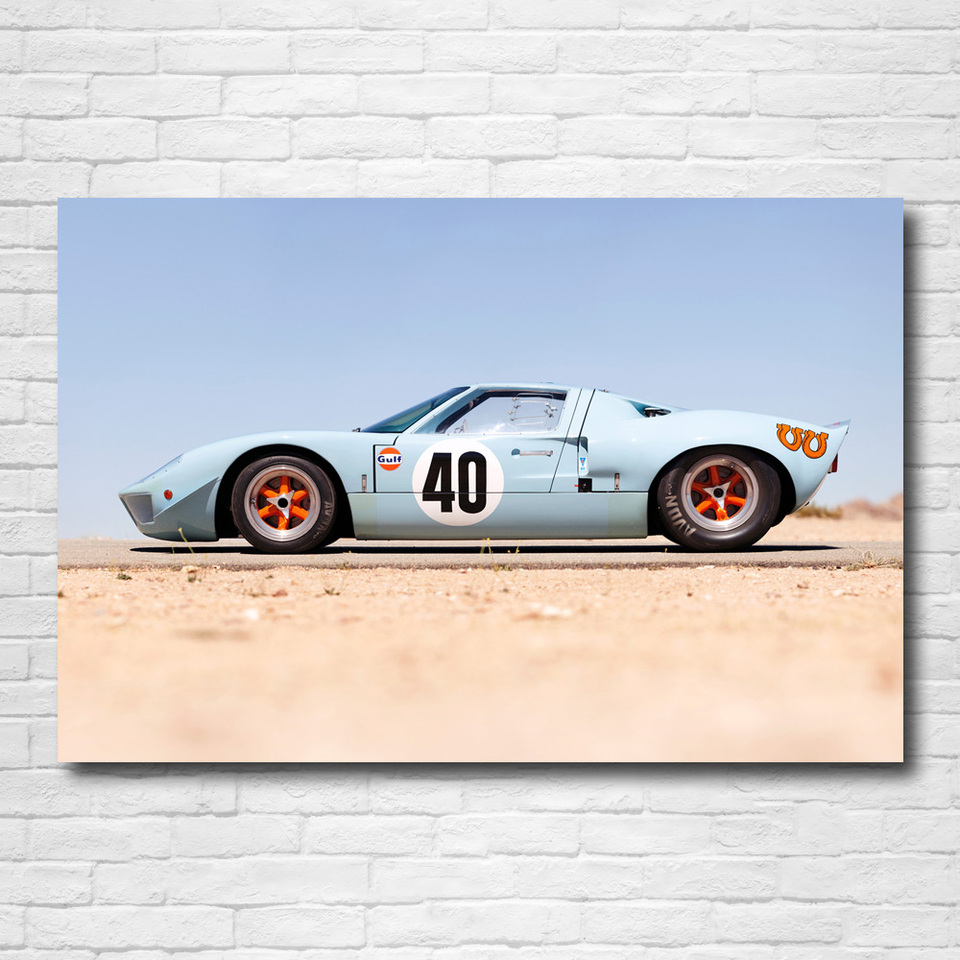 Modern Painting Gulf Ford Gt40 Le Mans Racing Car Classic Car Wall Art Posters Canvas Prints For Home Room Decor Painting Calligraphy Aliexpress