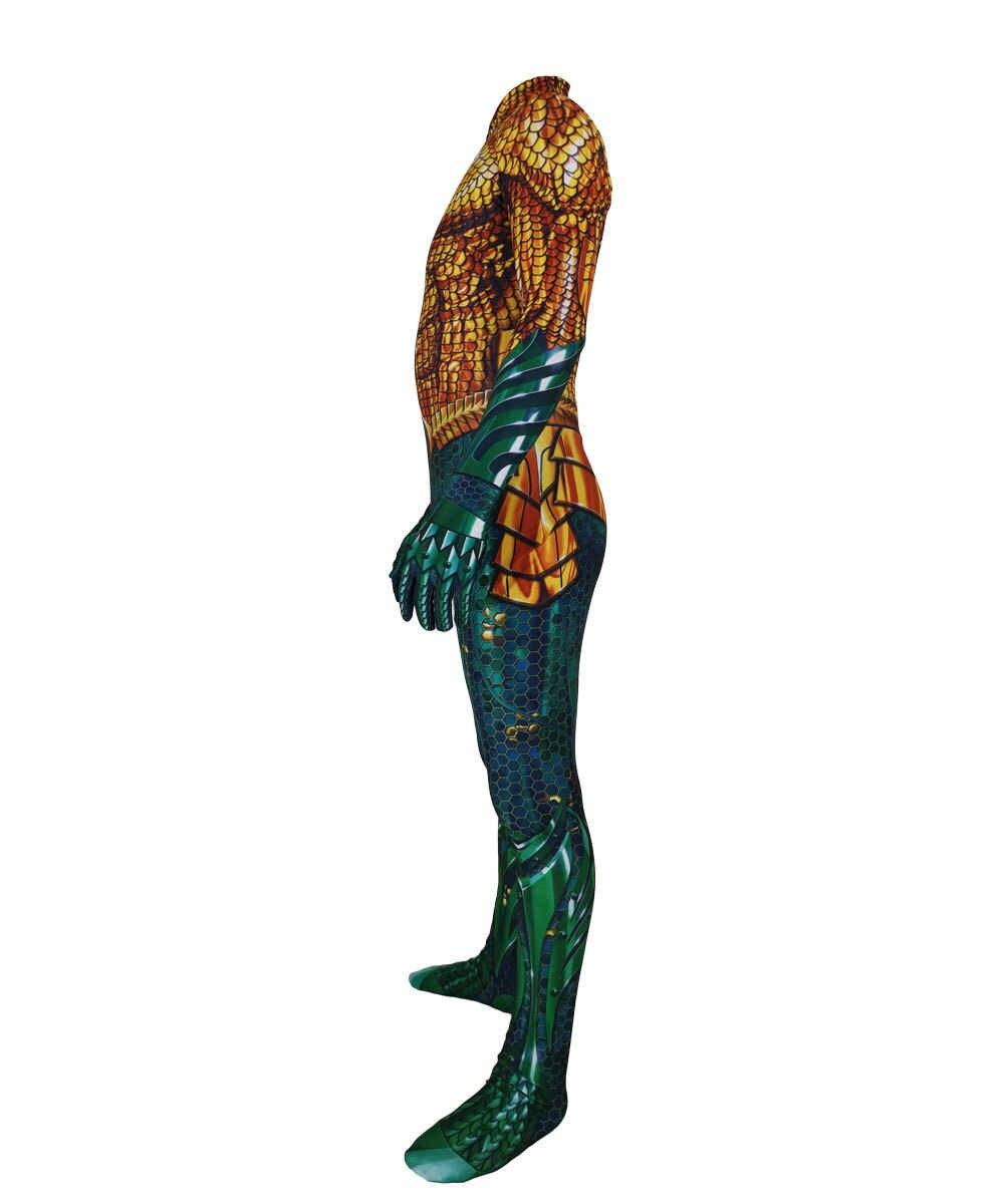 2019 Movie Aquaman Cosplay Costume Superhero Arthur Curry Orin Zentai adult kid Bodysuit Suit Jump suits