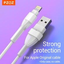 واقي سلك USB من PZOZ لهاتف iPhone 12 MINI 11 Pro X XS Max XR SE واقي سلك لف لحماية كابل iPhone الأصلي