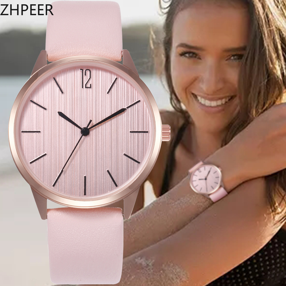 High Quality Women's Luxury Leather Strap Analog Quartz WristWatch Ladies Rose Gold Watch Women Dress Reloj Mujer Black Clock