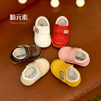 New Top Quality Genuine Leather Baby First Walkers Boys Girl Anti Slip Toddler Shoes Sale недорого