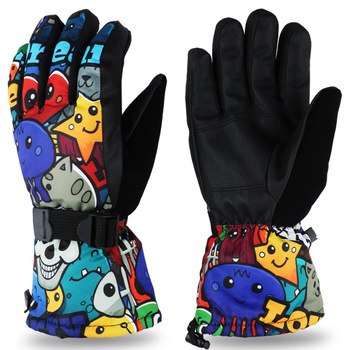 Men Women Kids Ski Gloves Snowboard Ultralight Waterproof Winter Sonw Warm Fleece Motorcycle Snowmobile Riding