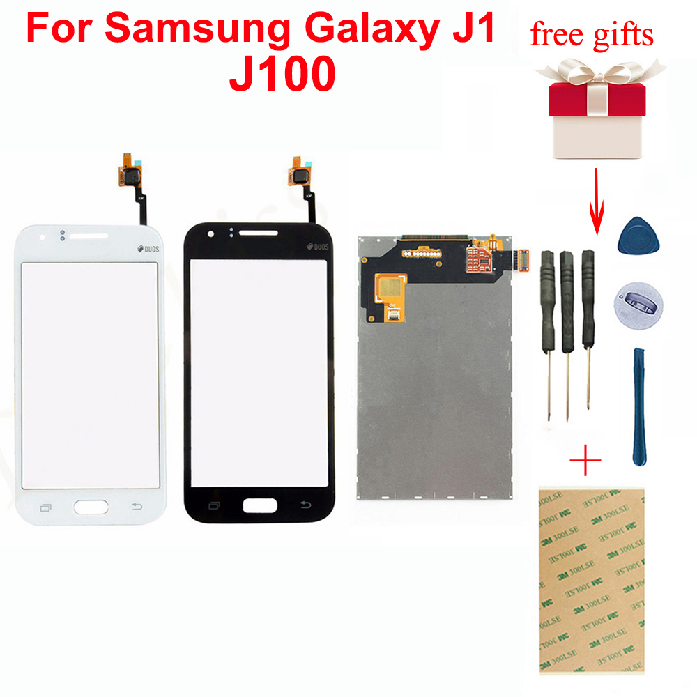 Für <font><b>Samsung</b></font> Galaxy J1 J100F J100H <font><b>J100</b></font> SM-<font><b>J100</b></font> Touchscreen Digitizer Glas Sensor + <font><b>LCD</b></font> Display Screen Panel Monitor Modul image