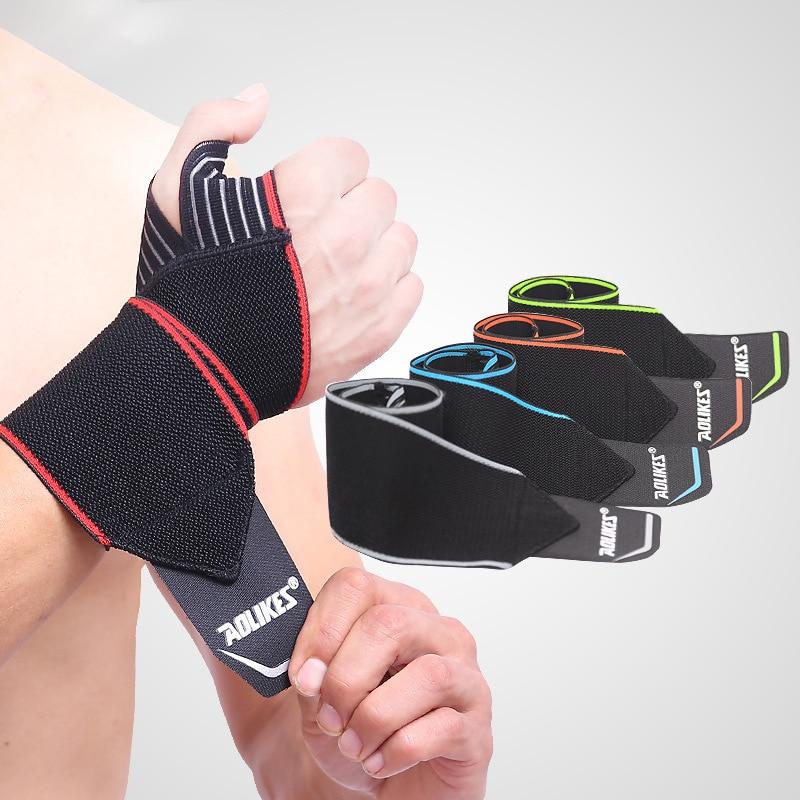 1 пара спортивных наручных ремней для тяжелой атлетики, обертывания, тренировочные повязки для рук, фитнес-безопасные дышащие повязки для п...