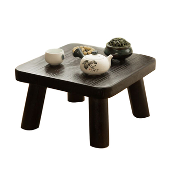 Solid wood bay window table Japanese style antique tea  bed low  casual living room