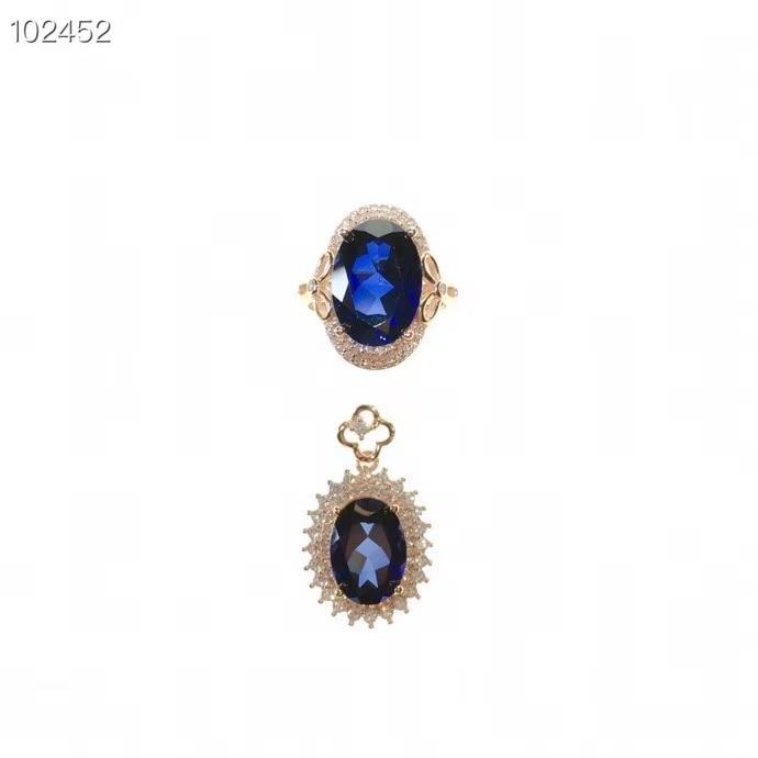 KJJEAXCMY boutique di gioielli in argento sterling 925 intarsiato anello di zaffiro Naturale ciondolo donna vestito supportano il rilevamento squisita - 6