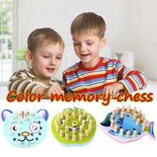 Dzieci drewniana pamięć mecz gra w szachy zabawka dla dzieci wczesna edukacja Puzzle Montessori logiczne myślenie dla dzieci szkolenie zabawka edukacyjna tanie tanio Logical Thinking Training Children Memory Urodzenia ~ 24 Miesięcy Chess Baby Learning Puzzle Toy Zwierzęta i Natura
