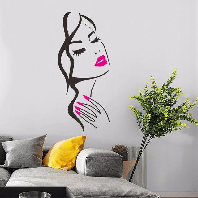 57 cm Nouvelle liste cils stickers muraux d/écoration de la maison art stickers muraux salon chambre d/écoration murale murale amovible vinyle autocollants 72