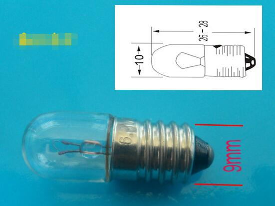 15pcs MIX 1.5v/2.5v/3.8v/6v/6.3v/12v/24v/36V E10 Indicator Light Bulb For Machine, Instrument Etc 0.12a
